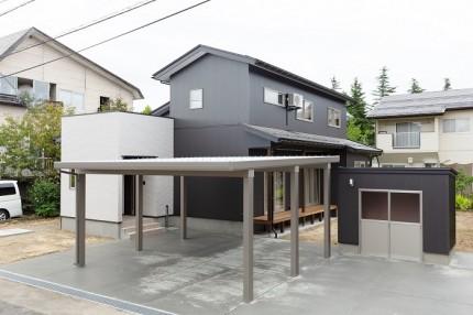 上越市鴨島新築住宅|注文住宅|二世帯住宅|広いリビングダイニング|物干し室|安心できる家
