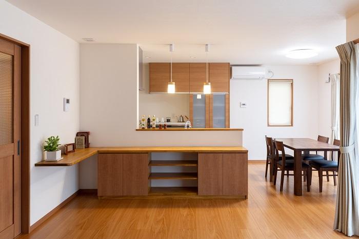 上越市新築住宅|注文住宅|二世帯住宅|広いリビングダイニング|物干し室|安心できる家