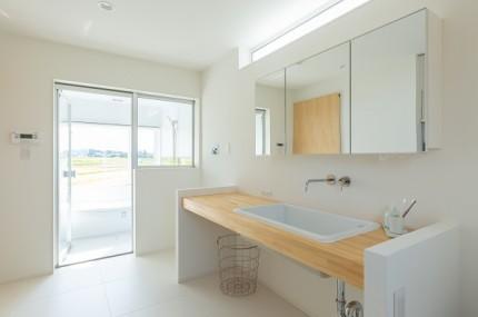 上越市新築住宅|注文住宅|ミニマリスト|シンプル|家を建てるのが夢|洗面脱衣室