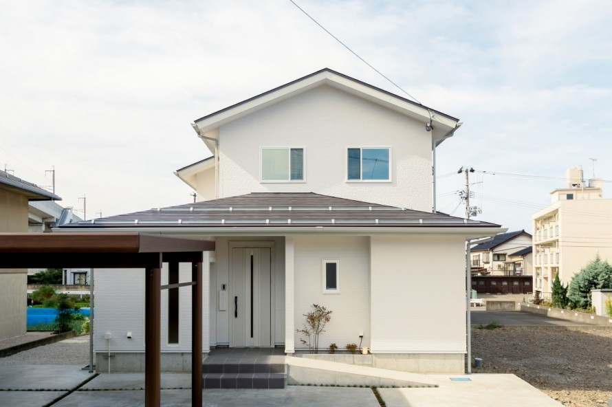糸魚川市横町新築住宅|注文住宅|ストレスフリー|省エネ・高気密・高断熱性能|長期優良住宅|シンプルモダン