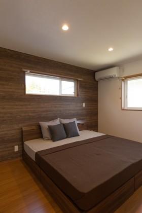 上越市大貫新築住宅|注文住宅|薪ストーブライフ|寝室