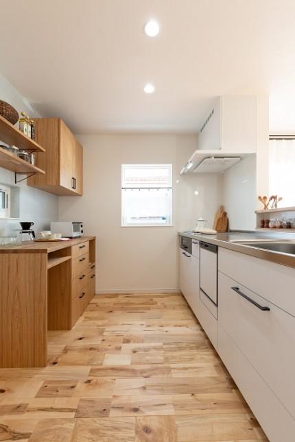 |上越市新築住宅|施工事例|家族時間|家事動線|キッチン|