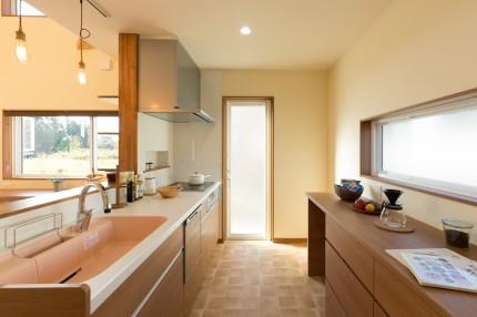 上越市大貫新築住宅|注文住宅|薪ストーブライフ|キッチン