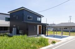 |上越市新築|住宅|施工事例|ママ視点で設計|外観|ファミリークローゼットで片づく家|