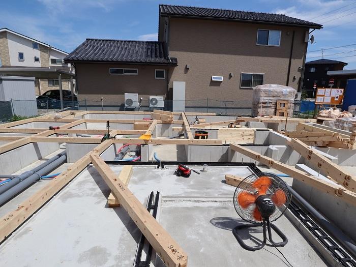 上越|注文住宅|新築|二世帯|二世帯住宅│建て替え|カネタ建設|土台伏せ
