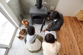 カネタ建設|上越市|新築住宅|薪ストーブ|土間のある家|薪ストーブライフ|キヌカ塗