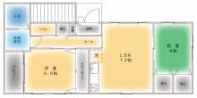 Only-Oneの住まいづくり-カネタ建設-アパート空室情報☆間取り☆糸魚川市新鉄
