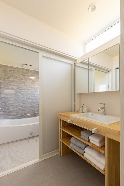 |上越市新築|住宅|施工事例|ママ視点で設計|洗面化粧室|