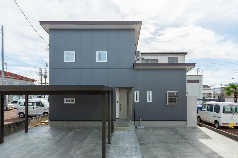 |上越市新築住宅|施工事例|家族時間|家事動線|外観|