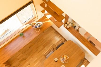 上越市大貫新築住宅|注文住宅|薪ストーブライフ|キッチン|ダイニング