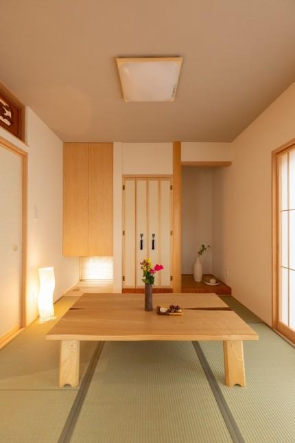 上越市新築住宅|注文住宅|二世帯住宅|建て替え|コンパクトに暮らす|和室|欄間